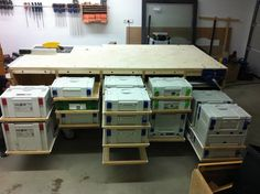 Festool Systainer work table and cabinet