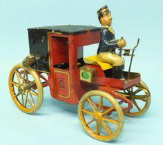 LEHMANN GERMAN MOTOR KUTSCHE COACH TIN WIND UP CAR #420 | Toys of Times Past