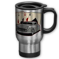Motor City Lead Sled Poker  Classic Lead Sled Poker Design stainless steel travel mug