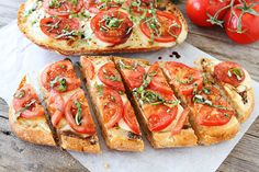 i want to eat this every day for the rest of my life. ::: Caprese Garlic Bread on www.twopeasandtheirpod.com