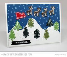 Winter Wonderland, Stitched Mountain Range Die-namics, Winter Wonderland Die-namics - Amy Rysavy  #mftstamps