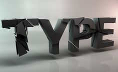 TYPE Project by Clemens Posch, via Behance