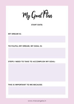 Get this FREE Goal Plan Worksheet right here! Click to download now or pin to spread the word!