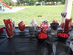 Twilight themed birthday party candy buffet