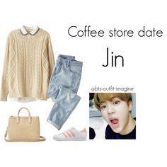 coffe store date (jin) by bts-outfit-imagine on Polyvore featuring polyvore 4c2d3796f0