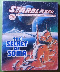 D C Thomson 1980 STARBLAZER The Secret of Soma retro SCIENCE FICTION graphic novel comic...retro Sci Fi adventures! by SlimandSugar on Etsy