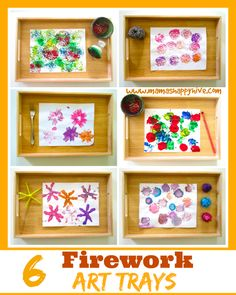 6 awesome firework art trays for kids to enjoy for New Years and of July! Winter Crafts For Toddlers, Winter Activities, Christmas Activities, Toddler Activities, Crafts For Kids, Arts And Crafts, Work Activities, Fireworks Craft For Kids, Fireworks Art