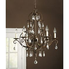 Waldorf 6-Arm Chandelier Item: LC324 $629.00   Overview  Specifications  Elegantly refined, our Waldorf Chandelier is hand crafted of grace...