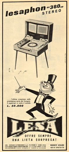 Lesaphon 380, 1962. | BruteBeats, Your Visual Radio Hip-Hop Experience likes this! www.brutebeats.com