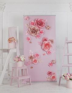 Paper Flower Backdrop – Paper Flower Wall – Paper Flower Stand – Wedding Wedding Backdrop – Wedding Backdrop – My Wedding Dream Paper Flower Wall, Paper Flower Backdrop, Flower Art, Giant Paper Flowers, Diy Flowers, Diy Paper, Paper Crafts, Wedding Ceremony Backdrop, Wedding Wall