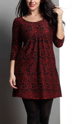 34 Beautiful Kurti Designs That Will Look Good On Every Woman! - Red Floral Empire-Waist Kurti Source by heikehollst - Short Kurti Designs, Simple Kurti Designs, New Kurti Designs, Kurta Designs Women, Dress Neck Designs, Stylish Dress Designs, Blouse Designs, Frock Fashion, Indian Fashion Dresses