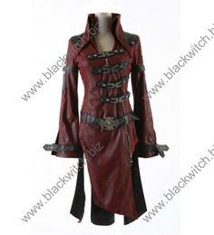Gothic winkel in Antwerpen BlackWitch. Gothic kleding. Korsetten. Party Jurk.  Jacket bordeaux heren lange