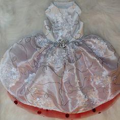 snow princess holiday dog gown $189.00  #OrostaniCouture #BitchNewYork