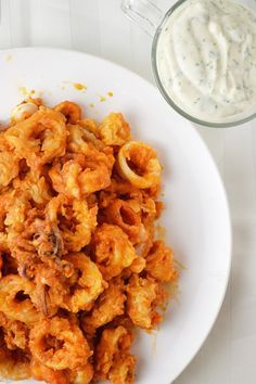 Buffalo Fried Calamari with Homemade Ranch Dip