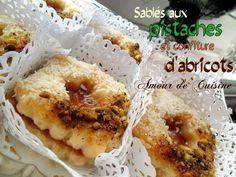 sables pistaches abricots , gateau algerien 2015