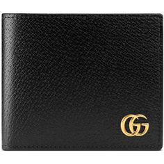6710c28379f6 Gucci Gg Marmont Leather Coin Wallet (525 CAD) ❤ liked on Polyvore  featuring men s