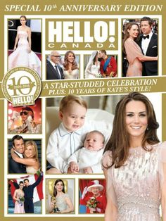 September 21: Catherine is featured on the cover HELLO! Canada Magazine's 10th Anniversary Special Edition Issue