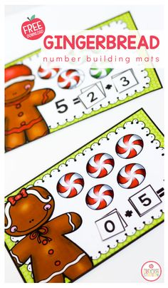 Let's build some numbers with these gingerbread themed math mats. Building numbers up to five is a huge skill in preschool and kindergarten classrooms. With these free math mats, you'll recieve number mats,peppermints for those visual learners and a guide to help your learners learn how to make the number five. #kindergarten #preschool #math #gingerbread Sensory Table, Sensory Bins, Sensory Play, Messy Play, Free Math, Little Learners, Kindergarten Classroom, Toddler Preschool, Pre School