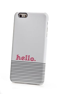 Striped Coral hello iPhone 6 Plus Case by shoppronetowander