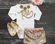 Silver Sparkle short sleeve ONE bodysuit by LolaandDarla on Etsy