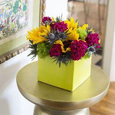 bright floral display