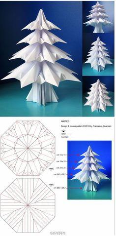cute origami tree via duitang.com  Beautiful, but it looks reallt complicated