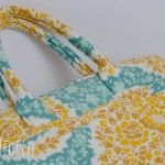 How to make fabric covered cord bag handles tutorial.