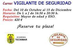 ¡Curso de Vigilante de Seguridad en Torre del Mar! www.acesperanza.com RESERVA TU PLAZA. #torredelmar #velezmalaga
