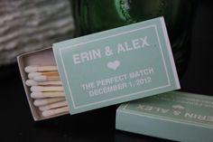50 Custom Designed Matchbox Wedding Favors by hopeandfancy on Etsy https://www.etsy.com/listing/115057116/50-custom-designed-matchbox-wedding