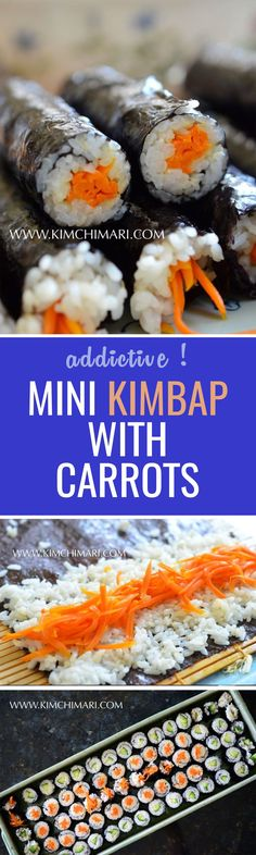 Also known as one of the most addictive kimbap in Korea, these little delights are perfect for a school lunch, picnic, and more :)