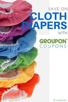 Cloth diaper coupons can be found in some non-traditional outlets, like @Groupon Coupons. I'm sharing how you can save big on cloth diapers by stacking coupons and promotional codes at major retailers. Save on Smart Bottoms, Thirsties, bumGenius, Rumparooz and more!