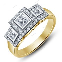 New 2.77 CT 14k Solid Gold Plated 925 Sterling Silver Men's Wedding Band Ring    #aonejewels