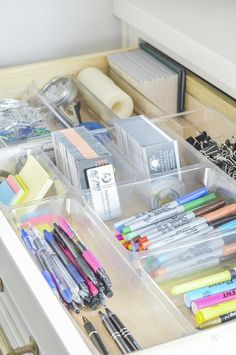 Office Supplies Organization Ideas Organized And Functional Office Supply Drawers