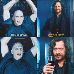 Why so sirius? in 2019 harry potter гарри поттер Harry Potter Mems, Harry Potter Voldemort, Harry Potter Comics, Cute Harry Potter, Mundo Harry Potter, Harry Potter Spells, Harry Potter Film, Harry Potter Quotes, Harry Potter Universal