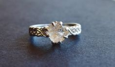 Hey, I found this really awesome Etsy listing at https://www.etsy.com/listing/205689662/rough-uncut-raw-diamond-ring-sterling