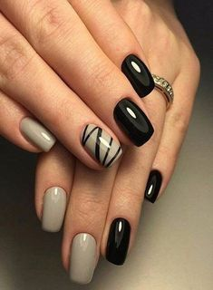 degraded manicure cream and black nail art Nail Art Noir, Toe Nail Art, Toe Nails, Stiletto Nails, Coffin Nails, Black Nail Designs, Fall Nail Designs, Cute Nail Designs, Cute Nails For Fall