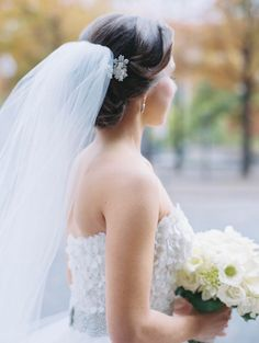 Sophisticated Black Tie DC Wedding from Abby Jiu Photography. - wedding hairstyle.