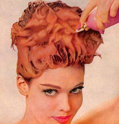 1963 DuBarry foam hair color.