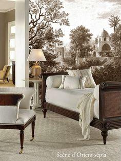 Classic Interior, Home Interior Design, Interior And Exterior, Interior Decorating, Scenic Wallpaper, Wall Wallpaper, Interior Design And Construction, Classic Living Room, Formal Living Rooms