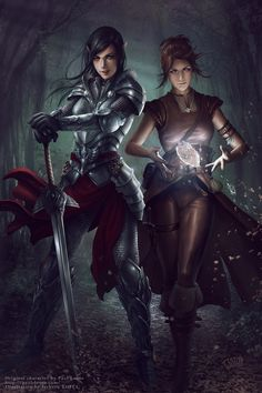 Commission - Amra and Iria by tjota.deviantart.com on @deviantART