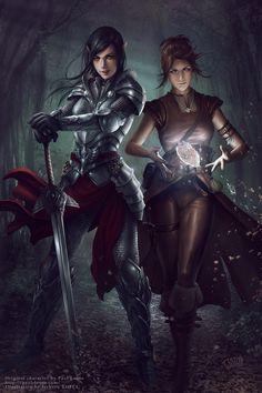 Commission - Amra and Iria by tjota.deviantart.com on @deviantART