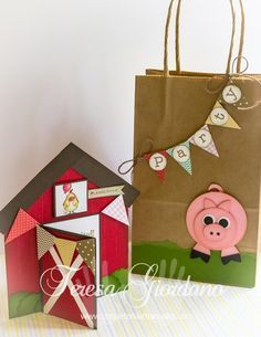 COQUETERIAS MANUALES: INVITACIÓN Y BOLSA DECORADA PARA FIESTA DE GRANJA Farm Animal Birthday, Farm Birthday, 3rd Birthday Parties, Birthday Bash, Barn Parties, Cowboy Party, Farm Party, Boy Decor, Ideas Para Fiestas