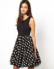 Glamorous Dress with Full Spot Skirt Glamorous Dresses, Rock, Skater Skirt, Asos, My Style, Skirts, Vintage, Shopping, Fashion