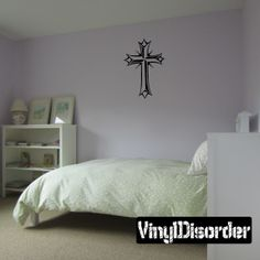 Cross Wall Decal - Vinyl Decal - Car Decal - DC106