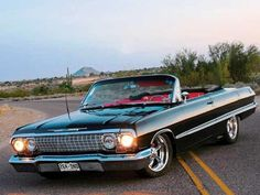 64' Chevy Impala Convertible  mine was white with black top
