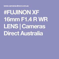 #FUJINON XF 16mm F1.4 R WR LENS | Cameras Direct Australia