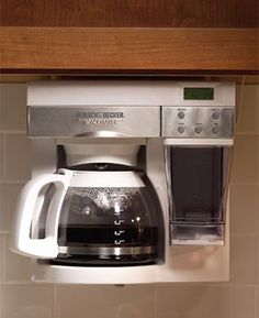 9 Genius Tips For Organizing Kitchens And Clearing The Clutter Under Cabinet Coffee Maker