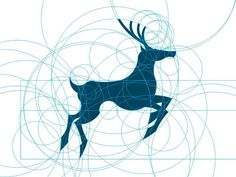 """""""Still-practice,"""" deer logo concept by Agustian Eko Saputro. The reason this design looks so aesthetically pleasing is that it's built on perfect forms (circles) and proportions (Golden Ratio). Graphisches Design, Icon Design, Kreis Logo, Golden Ratio In Design, Logo Animal, Create Logo, Holiday Logo, Logo Simple, Adobe Illustrator"""