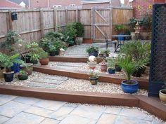 Railway sleepers in the garden, I like this idea | Garden ideas ...