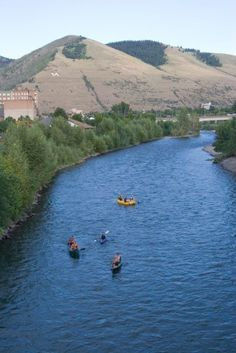 Floating down the river, through downtown Missoula, Montana. View of the M!  #OnlyInMissoula